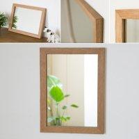 木枠の鏡 オーク材400×300ミリサイズ 木枠幅30ミリタイプ 【会員様割引5%OFF】
