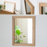 木枠の鏡 タモ材400×300ミリサイズ 木枠幅30ミリタイプ 【会員様割引5%OFF】