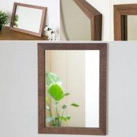木枠の鏡 ブラックウォルナット材400×300ミリサイズ 木枠幅30ミリタイプ 【会員様割引5%OFF】