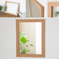 木枠の鏡 ブラックチェリー材400×300ミリサイズ 木枠幅30ミリタイプ 【会員様割引5%OFF】