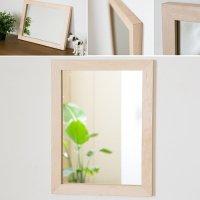 木枠の鏡 ハードメープル材400×300ミリサイズ 木枠幅30ミリタイプ 【会員様割引5%OFF】