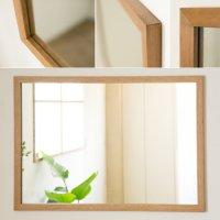 木枠の鏡 オーク材 800×600ミリサイズ 木枠幅30ミリタイプ 【会員様割引5%OFF】