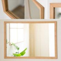 木枠の鏡 ブラックチェリー材 800×600ミリサイズ 木枠幅30ミリタイプ 【会員様割引5%OFF】