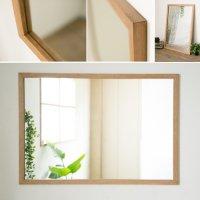 木枠の鏡 オーク材 1000×700ミリサイズ 木枠幅30ミリタイプ 【会員様割引5%OFF】