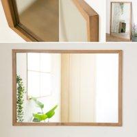 木枠の鏡 パイン材 1000×700ミリサイズ 木枠幅30ミリタイプ 【会員様割引5%OFF】