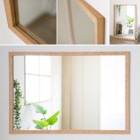 木枠の鏡 ブラックチェリー材 1000×700ミリサイズ 木枠幅30ミリタイプ 【会員様割引5%OFF】