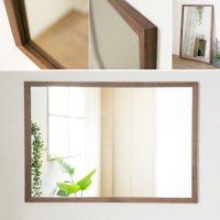 木枠の鏡 ブラックウォルナット材 1000×700ミリサイズ 木枠幅30ミリタイプ 【会員様割引5%OFF】