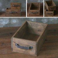 ヒノキのラフ材で作った取っ手付木箱 Sサイズ  【会員様割引5%OFF】