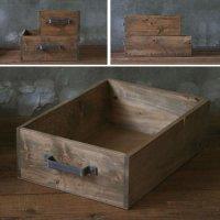 ヒノキのラフ材で作った取っ手付木箱 A4サイズ  【会員様割引5%OFF】