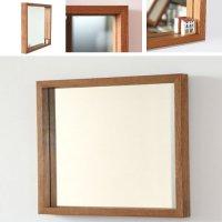 木枠の鏡 オーク材 H450×W550×D50mm 【会員様割引5%OFF】
