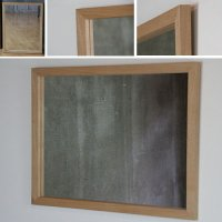 天然木100%の無垢材を使用したシンプルな木枠の鏡 タモ材 650×500サイズ  木枠幅30ミリタイプ