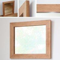 天然木100%の無垢材を使用したシンプルで味わい深い木枠の鏡 ブラックチェリー材 Mサイズ