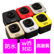 アクションカメラ WIFI 小型カメラ ミニカメラ スポーツカメラ フルHD  防水カメラ ウエラブルカメラ キューブ型 M10-WIFI-T60720