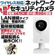 監視カメラ 防犯カメラ セキュリティカメラ ワイヤレス ネットワーク IPカメラ 小型 自動録画 動体検知 アラーム 赤外線 暗視 iPhone スマホから遠隔操作 ipc-629