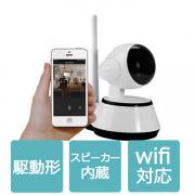 防犯カメラ ワイヤレス SDカード録画 スマホ対応  監視カメラ マイク/スピーカー IPカメラ 赤外線暗視/HD 1280 x 720/高画質 WIFI対応 IPC-014-L60225