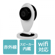 防犯カメラ ワイヤレス SDカード録画 スマホ対応  監視カメラ マイク/スピーカー IPカメラ 赤外線暗視/HD 1280 x 720/高画質 WIFI対応 IPC-011B-L60225