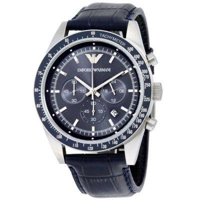 エンポリオアルマーニ腕時計/メンズ/AR6089/ブルーダイアル/スポーツ/クロノグラフ