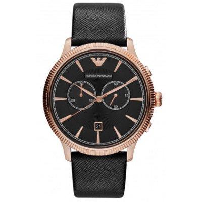エンポリオアルマーニ腕時計/メンズ/AR1792/ブラックダイアル/クラシック/クロノグラフ
