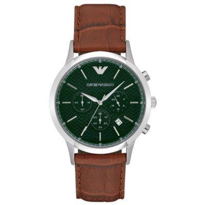 エンポリオアルマーニ腕時計/メンズ/AR2493/グリーンダイアル/クラシック/クロノグラフ