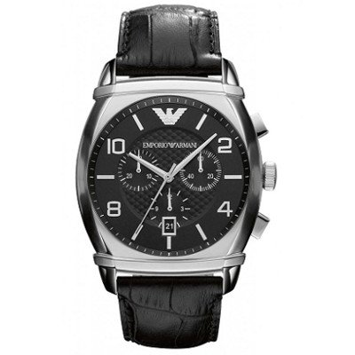 エンポリオアルマーニ腕時計/メンズ/AR0347/ブラックダイアル/クラシック/クロノグラフ