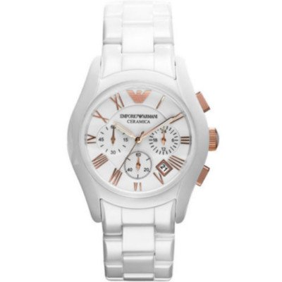 エンポリオアルマーニ腕時計/メンズ/AR1416/ホワイトダイアル/セラミカ/クロノグラフ