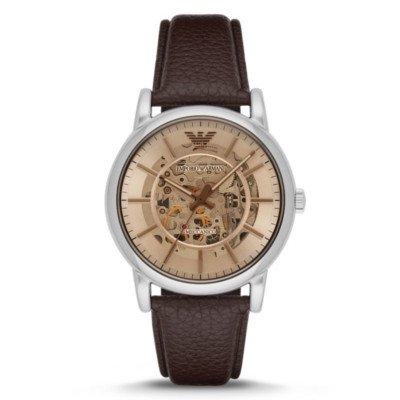エンポリオアルマーニ腕時計/メンズ/AR1982/ブラウンダイアル/オープンハート/メカニコ