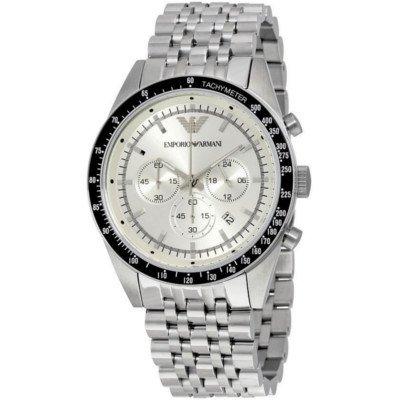 エンポリオアルマーニ腕時計/メンズ/AR6073/シルバーダイアル/スポーツ/クロノグラフ