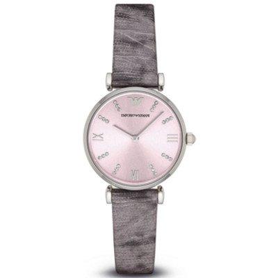 エンポリオアルマーニ腕時計/レディース/AR1882/ピンクダイアル/クラシック/クリスタルバーインデックス