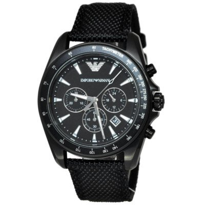 エンポリオアルマーニ腕時計/メンズ/AR6131/ブラックダイアル/シグマ/クロノグラフ