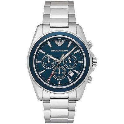 エンポリオアルマーニ腕時計/メンズ/AR6091/ブルーダイアル/シグマ/クロノグラフ