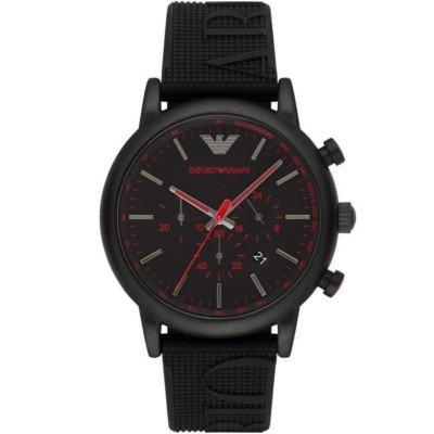 エンポリオアルマーニ腕時計/メンズ/AR11024/ブラックダイアル/ルイージ/クロノグラフ