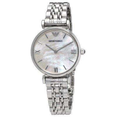 エンポリオアルマーニ腕時計/レディース/AR1682/ホワイトシェルダイアル/アップライトインデックス/クラシック