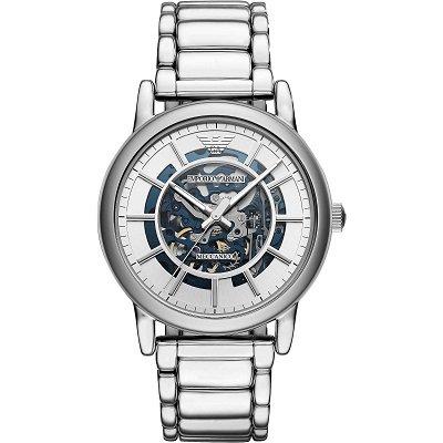 premium selection 7464a f7d12 エンポリオアルマーニ腕時計/メンズ/AR60006/自動巻き/スケルトンダイアル/シルバーベルト/メカニコ - 【Armani-Side】