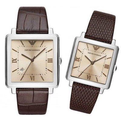 エンポリオアルマーニ腕時計/ペアウォッチ/メンズAR11098/レディースAR11099/アンバーダイアル