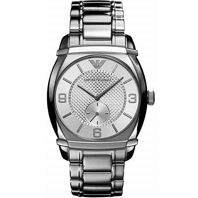 エンポリオアルマーニ腕時計/メンズ/AR0339/シルバーダイアル/クラシック/トノー型/ギョーシェ模様/スモールセコンド