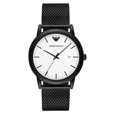 wholesale dealer 90802 f8d19 エンポリオアルマーニ腕時計/メンズ/AR11046/ホワイトダイアル/ステンレスメッシュベルト/ルイージ - 【Armani-Side】
