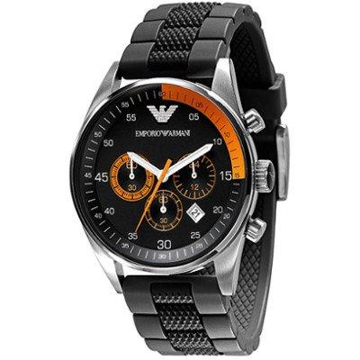 エンポリオアルマーニ腕時計/メンズ/AR5878/ブラックダイアル/スポーツ/クロノグラフ