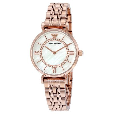 エンポリオアルマーニ腕時計/レディース/AR1909/ホワイトマザーオブパールダイアル/クラシック