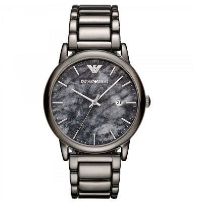 newest ae802 df70b エンポリオアルマーニ腕時計/メンズ/AR11155/マーブルダイアル/ブラックステンレスベルト/ルイージ - 【Armani-Side】