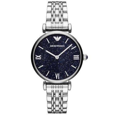 エンポリオアルマーニ腕時計/レディース/AR11091/ブルーダイアル/ジャンニ/7連ステンレスベルト