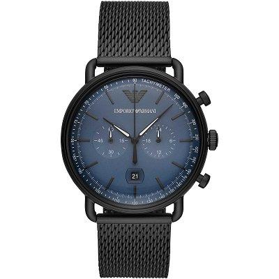 【2019年新作】エンポリオアルマーニ腕時計/メンズ/AR11201/ブルーダイアル/クロノグラフ/アビエーター/バーインデックス