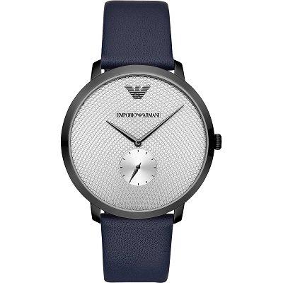 【2019年新作】エンポリオアルマーニ腕時計/メンズ/AR11214/シルバーフェイス/レザーベルト/モダンスリム/スモールセコンド
