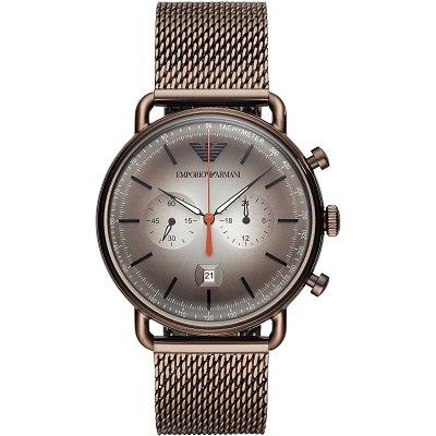 【2019年新作】エンポリオアルマーニ腕時計/メンズ/AR11169/ブラウンダイアル/クロノグラフ/アビエーター/バーインデックス