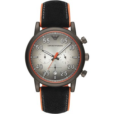 【2019年新作】エンポリオアルマーニ腕時計/メンズ/AR11174/グレーダイアル/レザーベルト/ルイージ/アラビアンインデックス