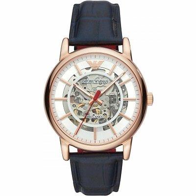 エンポリオアルマーニ腕時計/メンズ/AR60009/自動巻き/スケルトンダイアル/レザーベルト/メカニコ