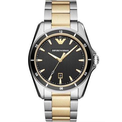 【日本未発売】エンポリオアルマーニ腕時計/メンズ/AR80017/ブラックダイアル/シグマ/アップライトインデックス