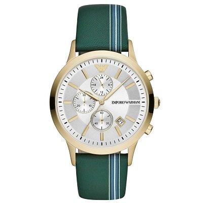 エンポリオアルマーニ腕時計/メンズ/AR11233/シルバーダイアル/レトロ/クロノグラフ