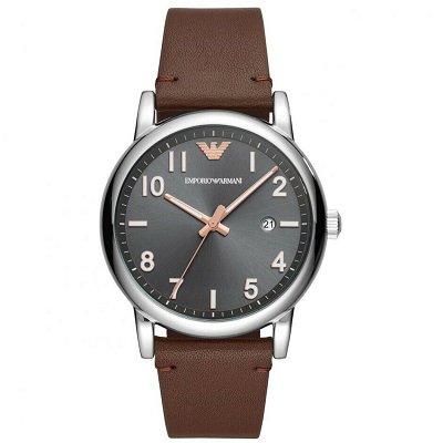 【2019年新作】エンポリオアルマーニ腕時計/メンズ/AR11175/グレーダイアル/ブラウンレザーベルト/ルイージ