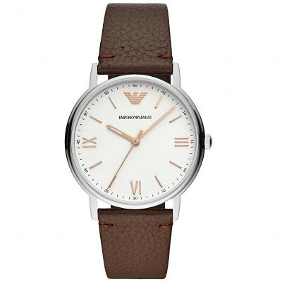 【2019年新作】エンポリオアルマーニ腕時計/メンズ/AR11173/ホワイトダイアル/カッパ/アップライトインデックス