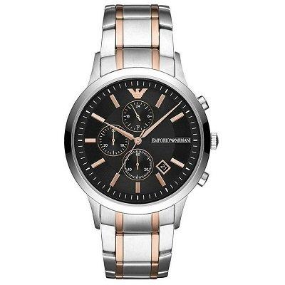 【2019年新作】エンポリオアルマーニ腕時計/メンズ/AR11165/ブラックダイアル/レナート/クロノグラフ